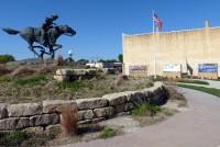 Pony Express Statue & Lifetiles Murals